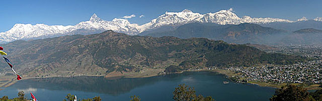 Himalaya Panorama von World Peace Pagoda Pokhara
